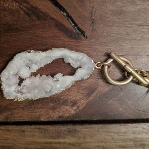 Long druzy necklace
